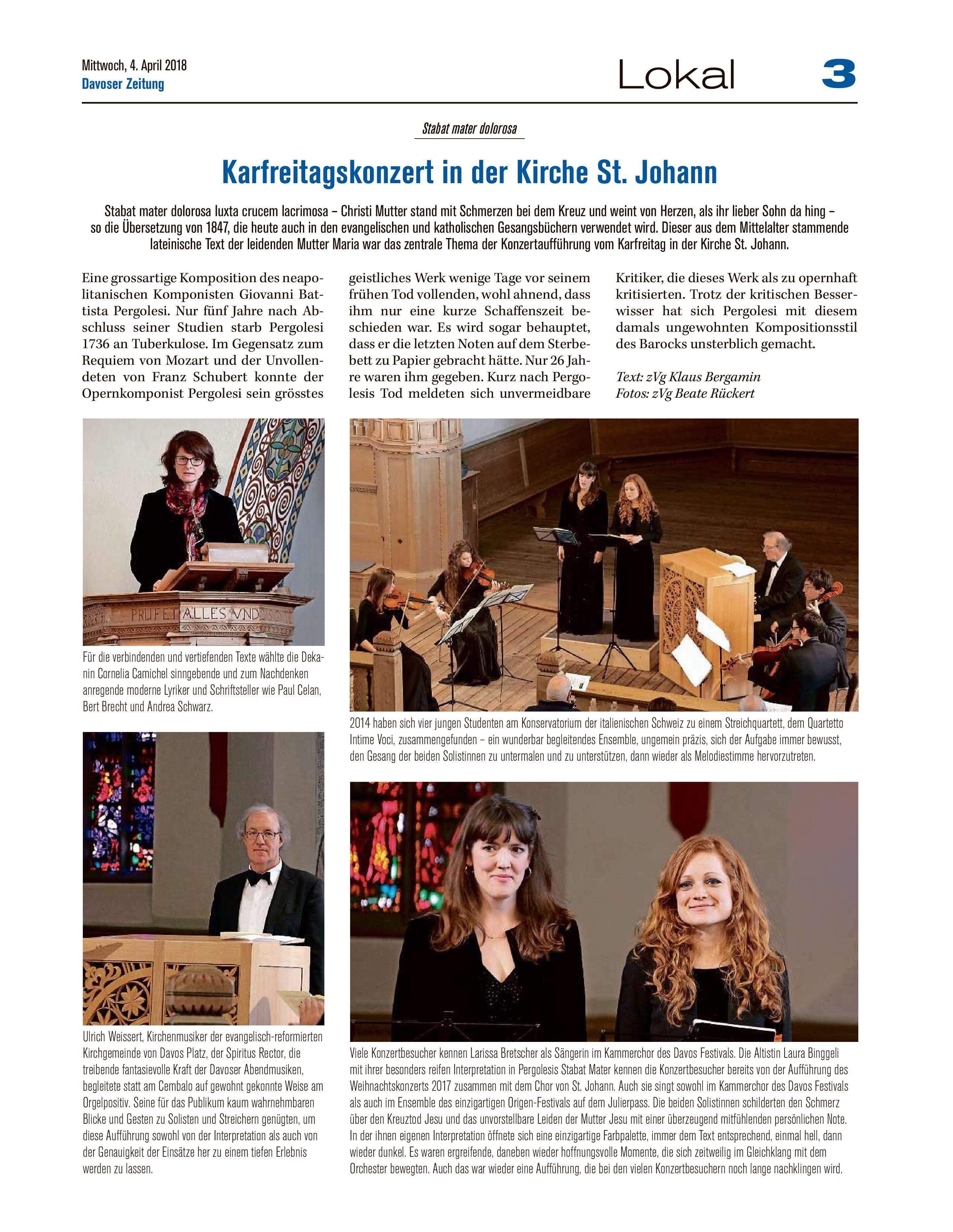 Davoser Zeitung 4.4.2018